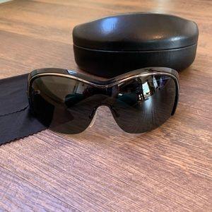 PRADA Aviator Shield Sunglasses Black Authentic